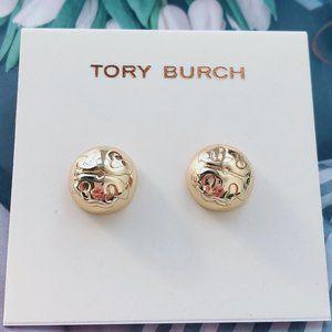 Tory Burch Logo Semi-Spherical Stud Earrings